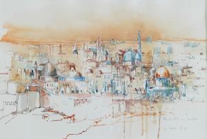 Ausstellung der Israel-Aquarelle von Willi Probst